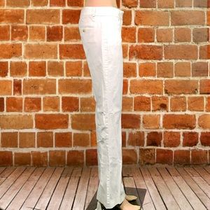 Theory Pants - THEORY MAX C' Stretch Canvas Flare Leg Pants